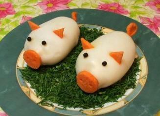 świnki jaja